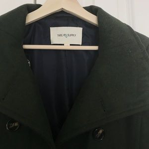 Dark Green Pea Coat